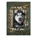 Fathers Day - Stone Paws - Siberian Husky