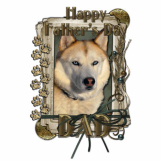Fathers Day - Stone Paws Siberian Husky Copper Dad Standing Photo Sculpture