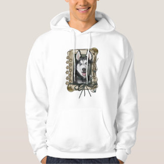 Fathers Day - Stone Paws - Siberian Husky Hoodies