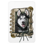Fathers Day - Stone Paws - Siberian Husky Rectangular Magnet