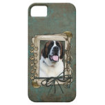 Fathers Day - Stone Paws - St Bernard - Mae iPhone 5 Case