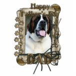 Fathers Day - Stone Paws - St Bernard - Mae - Dad Photo Sculpture
