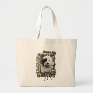 Fathers Day - Stone Paws - Tibetan Terrier - Dad Jumbo Tote Bag