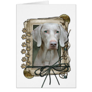 Fathers Day - Stone Paws - Weimaraner Card
