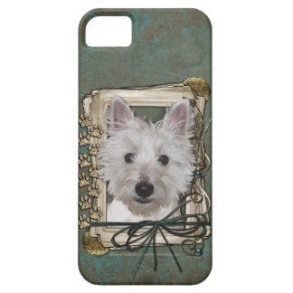 Fathers Day - Stone Paws - West Highland Terrier iPhone 5 Cover