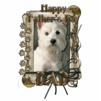 Fathers Day - Stone Paws West Highland Terrier Dad Standing Photo Sculpture