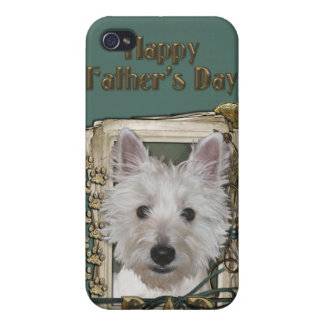 Fathers Day - Stone Paws - West Highland Terrier Cases For iPhone 4