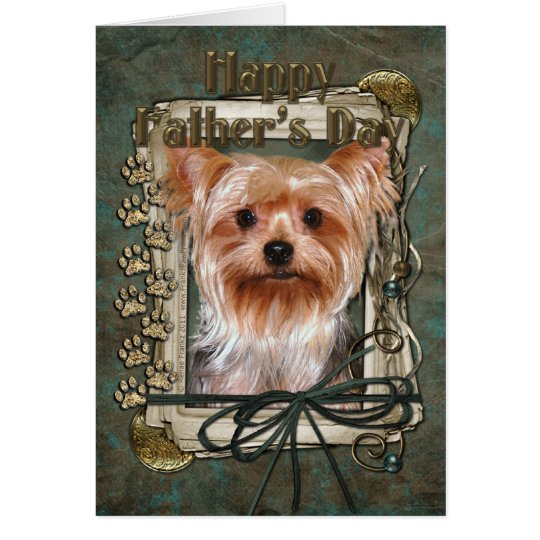 Fathers Day - Stone Paws - Yorkshire Terrier