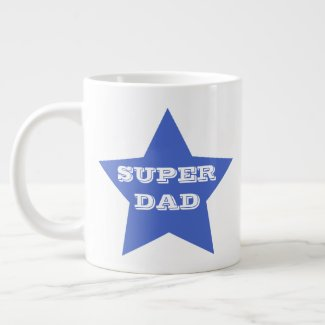 Father's Day SUPER DAD | Blue Star Jumbo Mug
