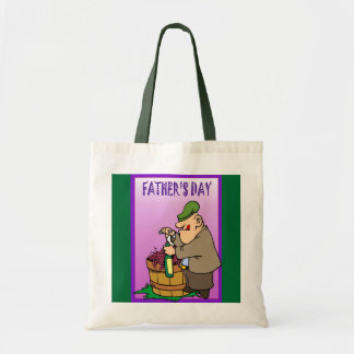 Father's day budget tote bag