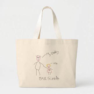 Father's day jumbo tote bag