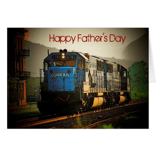 Father's Day Train Card