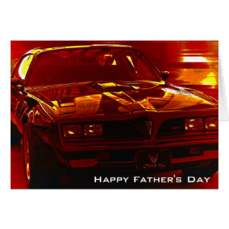Father's Day Trans Am Greeting Greeting Card