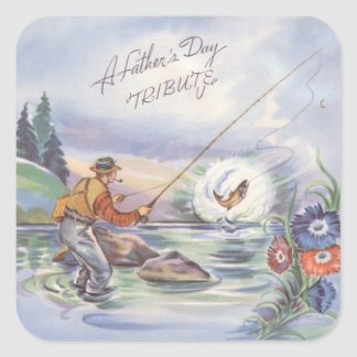 Father's Day Tribute Square Sticker