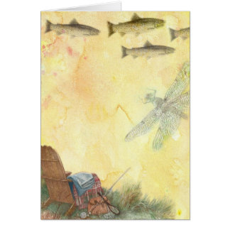 FATHER'S DAY TROUT FISHING GREETINGS GREETING CARD