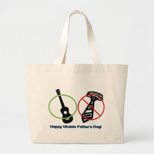 Father's Day Ukulele Tote Bag