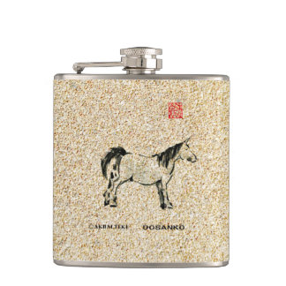 Father's Day with horse pics Flasks