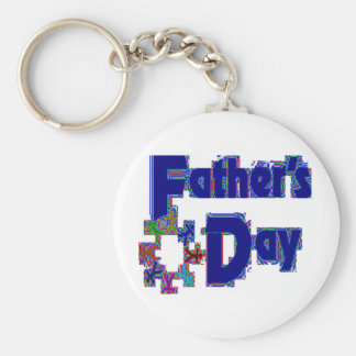 FATHERS DAY WITH PIXEL'S BASIC ROUND BUTTON KEY RING