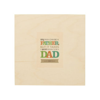 Fathers day wood prints