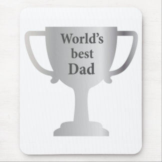 Fathers Day Worlds Best Dad Cup Mouse Mat