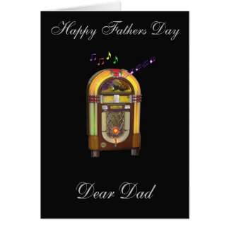 FATHERS DAY WURLITZER JUKEBOX GREETING CARD