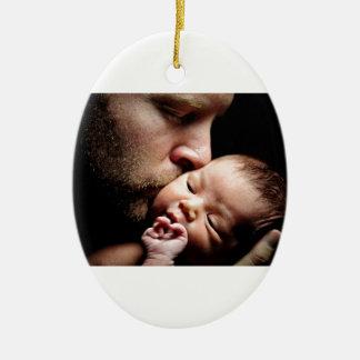 Father's Kiss Ceramic Oval Decoration