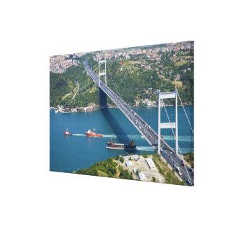 Fatih Sultan Mehmet Bridge over the Bosphorus, Canvas Print