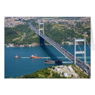 Fatih Sultan Mehmet Bridge over the Bosphorus, Greeting Card