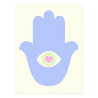 Fatima Eye Heart Hamsa Postcard