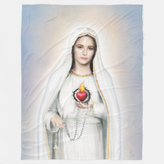 Fatima, Immaculate Heart 60x80 Fleece Blanket