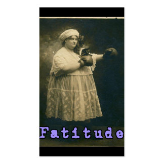 Fatitude! Pack Of Standard Business Cards