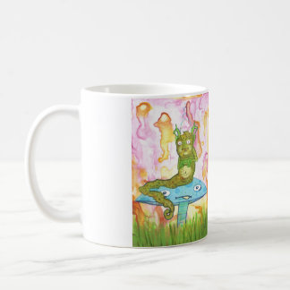 Fatterpillar cartoon caterpillar lowbrow bug art coffee mug
