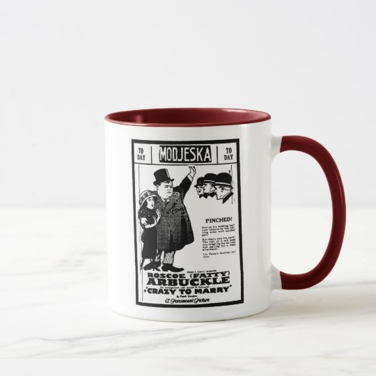 Fatty Arbuckle CRAZY TO MARRY 1921 Mug