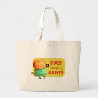 Fatty Fatty Fat Reggae Cat Tote Bags