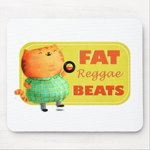 Fatty Fatty Fat Reggae Cat Mouse Pads