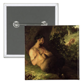 Faun and Nymph, 1868 15 Cm Square Badge