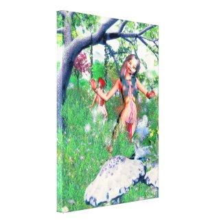 Fauna & Alvina The Pixies Gallery Wrap Canvas