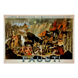 Faust 1887 - Theater Poster