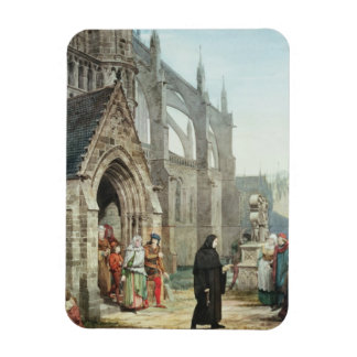 Faust and Marguerite 1857 w c on paper Rectangular Magnets