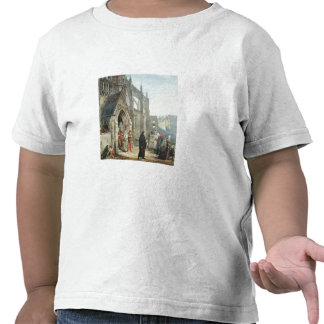 Faust and Marguerite 1857 w c on paper T-shirts