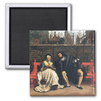 Faust and Marguerite in the garden by James Tissot Fridge Magnet