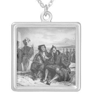 Faust and Wagner in conversation Silver Plated Necklace