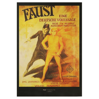 Faust HQ. Restored Poster Wood Poster