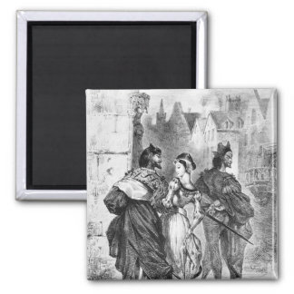 Faust meeting Marguerite Square Magnet