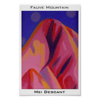 Fauve Mountain Poster