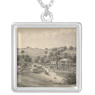 Fauver residence silver plated necklace