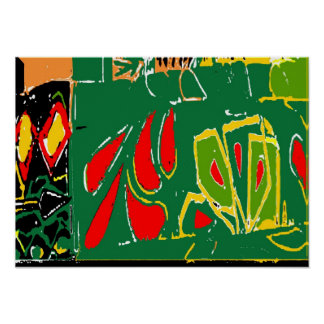 Fauvism: Abstract Curtains Matisse Style Poster