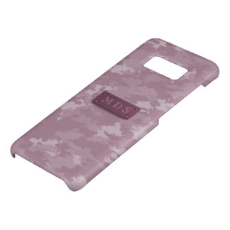 Faux 3D Monogram Rose Pink Camo Case-Mate Samsung Galaxy S8 Case