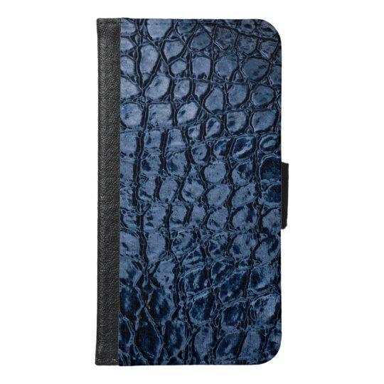 Faux Alligator Blue Reptile Skin Leather Samsung Galaxy