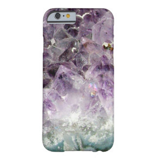 Faux amethyst crystal geode gemstone photo hipster barely there iPhone 6 case